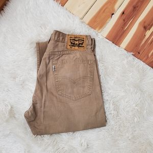 Levi's Tan 505 Straight Fit Jeans